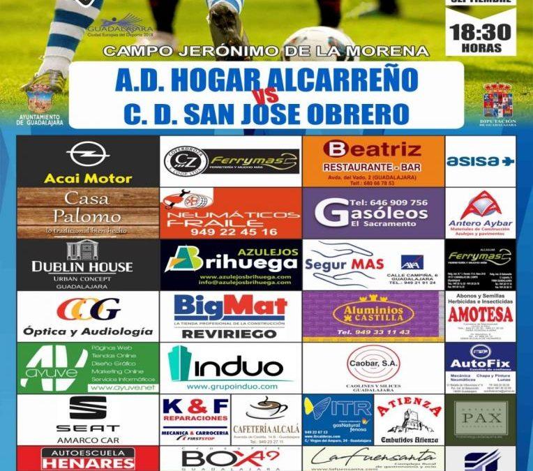 Hogar Alcarreño – San José Obrero, Sábado a las 18:30 horas
