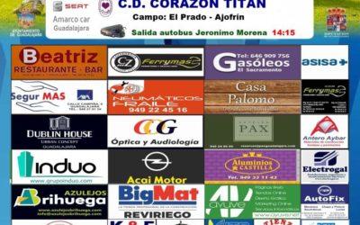 CORAZÓN TITÁN-HOGAR ALCARREÑO, EL SÁBADO A LAS 1700 HORAS