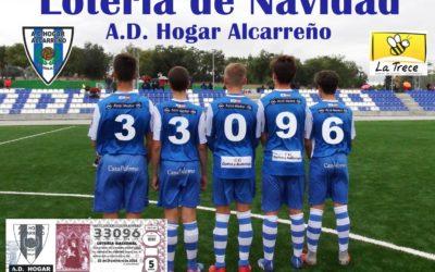 Compra el numero 33096 de la lotería de Navidad en tu club, el Hogar Alcarreño