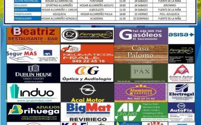 Horarios partidos próxima jornada  24 -25 Noviembre de la A.D. Hogar Alcarreño . FERRYMAS ALCASUM.