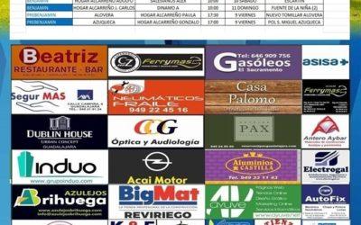 Horarios partidos próxima jornada 9- 10 -11 Noviembre de la A.D. Hogar Alcarreño .SEGURMAS AXA