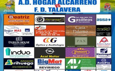 HOGAR ALCARREÑO-F. TALAVERA,  SÁBADO, 16'00 H., EN FUENTE DE LA NIÑA