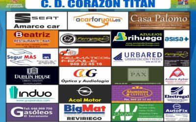 HOGAR ALCARREÑO-CORAZÓN TITÁN, SÁBADO, 18'30 HORAS, EN FUENTE DE LA NIÑA.