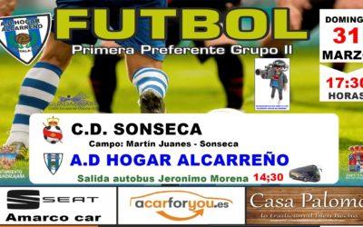 SONSECA-HOGAR ALCARREÑO,  DOMINGO A LAS 17'30 HORAS