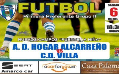 HOGAR ALCARREÑO-VILLA, SÁBADO, 18'30 HORAS, EN FUENTE DE LA NIÑA