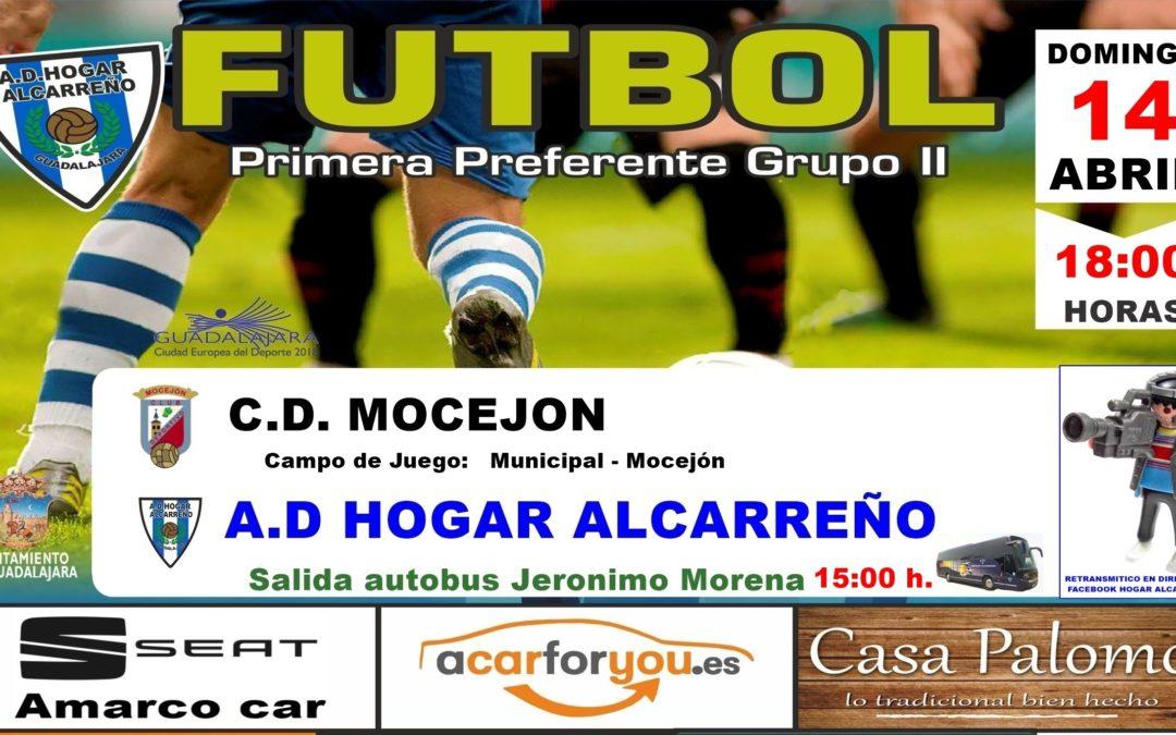 MOCEJÓN-HOGAR ALCARREÑO,  DOMINGO A LAS 18'00 HORAS