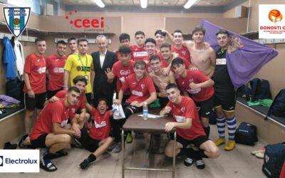 Hogar Alcarreño Primer partido del juvenil en la Donosti Cup y triunfo 4-1 contra el Barsa Academy.