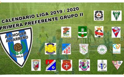 CALENDARIO PRIMERA PREFERENTE  GRUPO II TEMPORADA 2019 -2020