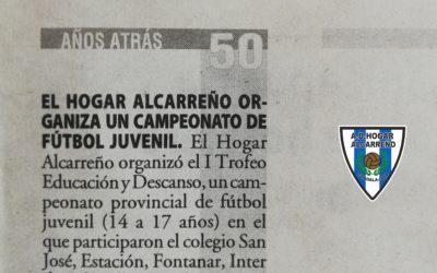 ARTICULO EN NUEVA ALCARRIA RECORDATORIO DE HACE 50 AÑOS DE HISTORIA DEL HOGAR ALCARREÑO.