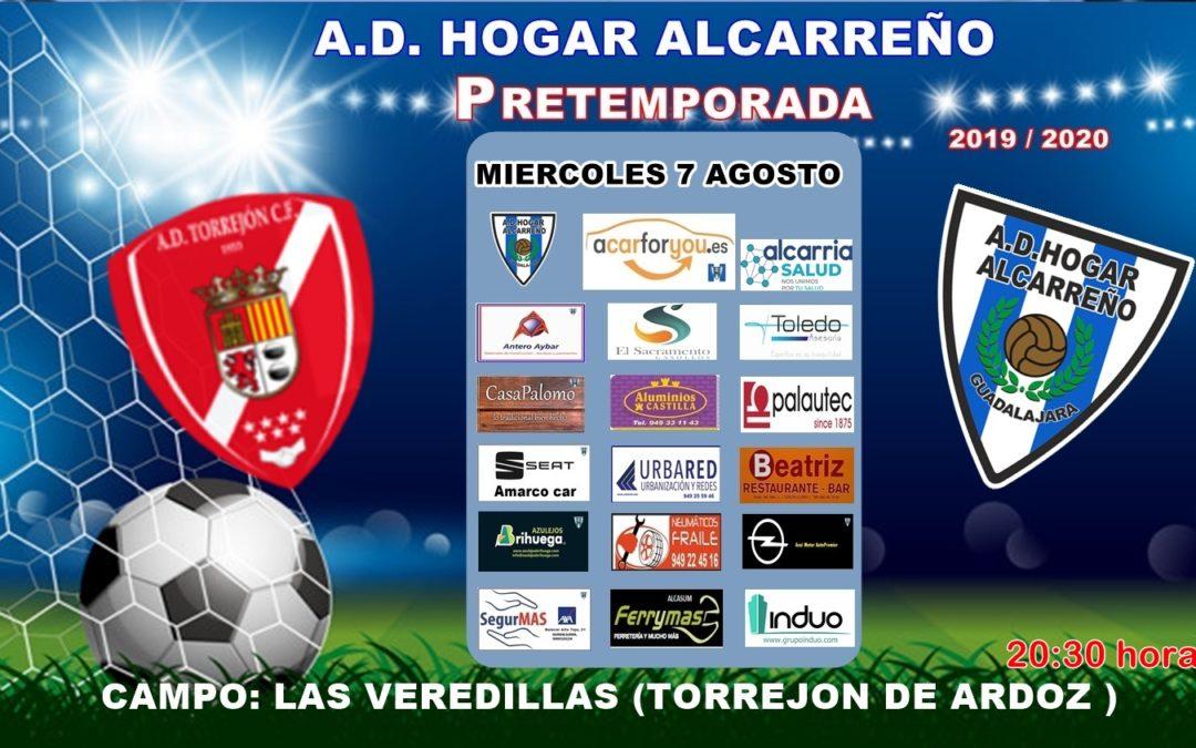 MIÉRCOLES 7, 20'30 HORAS C.D. TORREJÓN-HOGAR ALCARREÑO