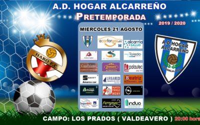 MIERCOLES 21, 20'00 HORAS HARO-HOGAR ALCARREÑO