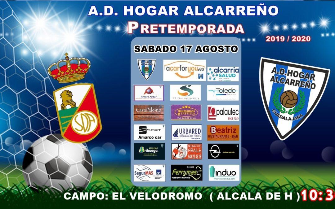 ALCALÁ B-HOGAR ALCARREÑO EL SÁBADO 17, A LAS 10'30 HORAS