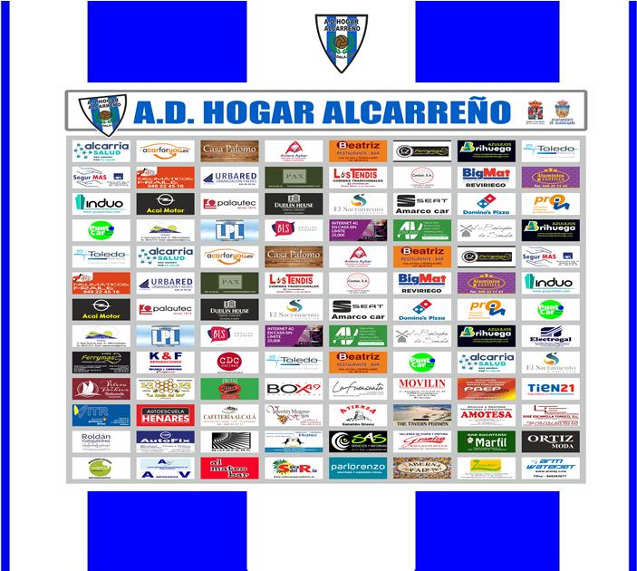 Presentamos el Photocall con todos nuestros patrocinadores del Hogar Alcarreño para la temporada 2019 / 2020 .