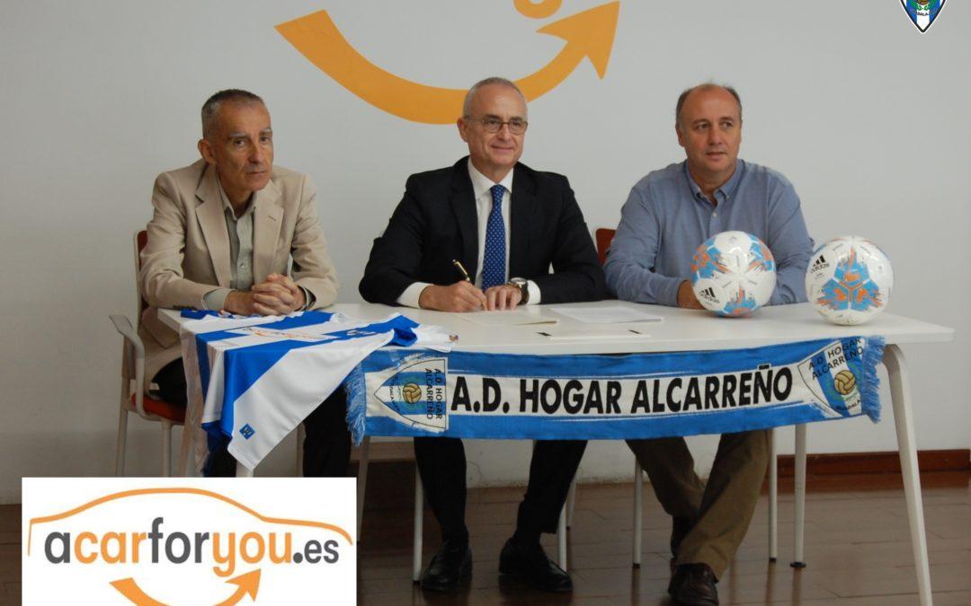 RENOVADO EL ACUERDO DE PATROCINIO ENTRE ACARFORYOU Y LA A.D. HOGAR ALCARREÑO