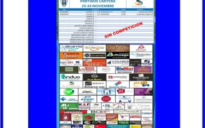 PARTIDOS CANTERA 23-24 NOVIEMBRE 2019-HOGAR ALCARREÑO . GASOLEOS EL SACRAMENTO.