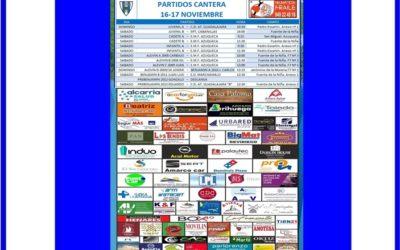 PARTIDOS CANTERA 16-17 NOVIEMBRE 2019-HOGAR ALCARREÑO .  NEUMATICOS FRAILE.