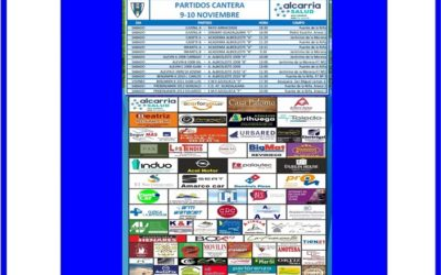 PARTIDOS CANTERA 9-10 NOVIEMBRE 2019-HOGAR ALCARREÑO   . ALCARRIA SALUD
