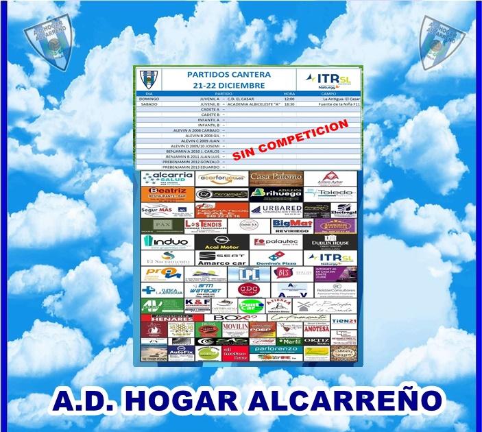 PARTIDOS CANTERA 21-22 DICIEMBRE 2019-HOGAR ALCARREÑO . ITRSL