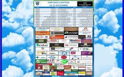 PARTIDOS CANTERA 14-15 DICIEMBRE 2019-HOGAR ALCARREÑO . DUBLIN HOUSE…