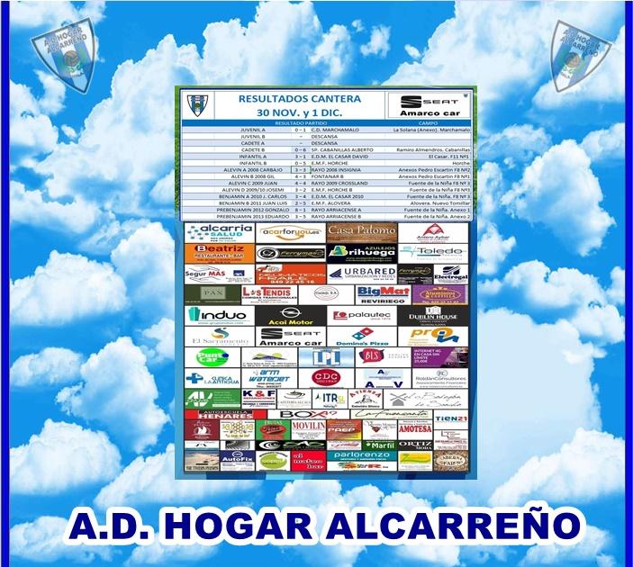 RESULTADOS CANTERA 30 NOVIEMBRE 2019 .AMARCO CAR SEAT
