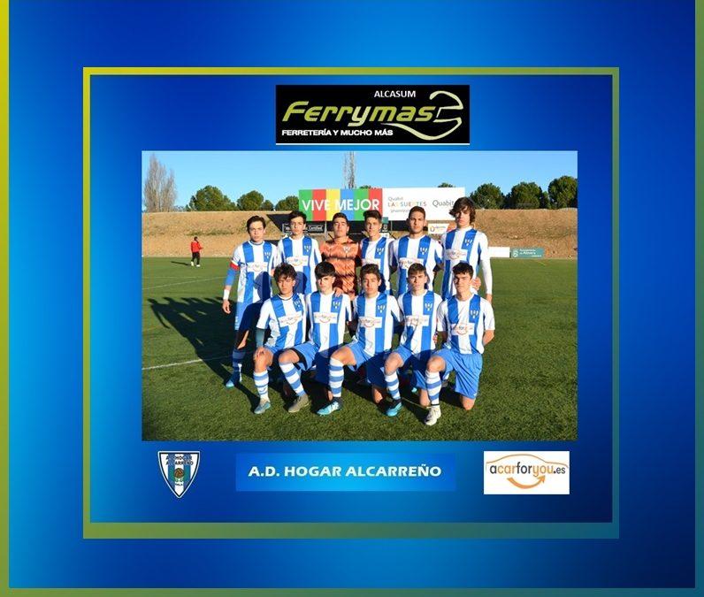 """EL JUVENIL A. D. HOGAR ALCARREÑO """"B"""" LOGRA UNA VICTORIA IMPORTANTÍSIMA CONTRA EL C.F. ALOVERA """"A""""."""