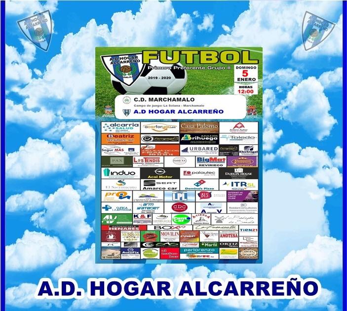 MARCHAMALO – HOGAR ALCARREÑO- DOMINGO DIA 5 A LAS 12:00 CAMPO LA SOLANA. LOS TENDIS.