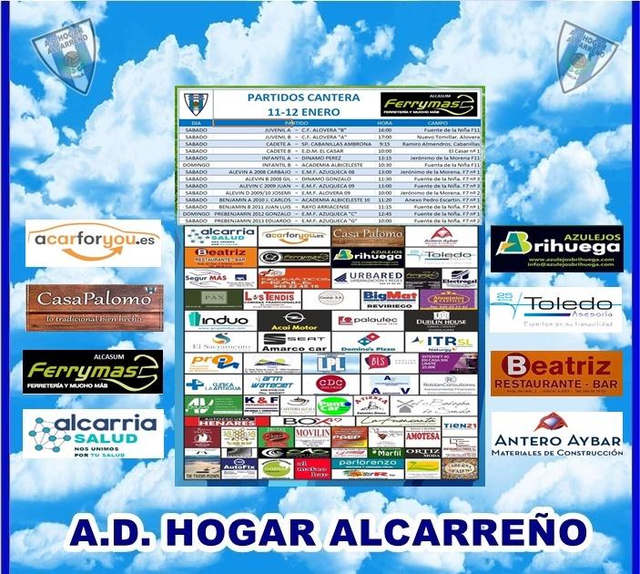 PARTIDOS CANTERA 11-12 ENERO 2020 -HOGAR ALCARREÑO . FERRYMAS ALCASUM