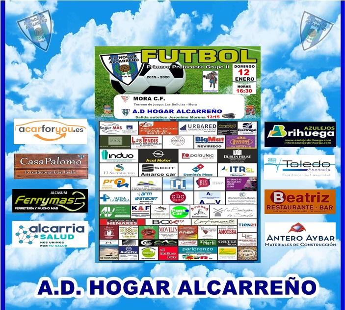 MORA C.F  – HOGAR ALCARREÑO. DOMINGO 12 A LAS 16;30 H .FERRYMAS ALCASUM.