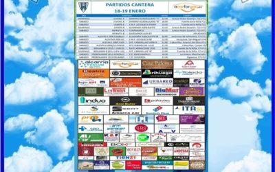 PARTIDOS CANTERA 18-19 ENERO 2020 -HOGAR ALCARREÑO . ACARFORYOU