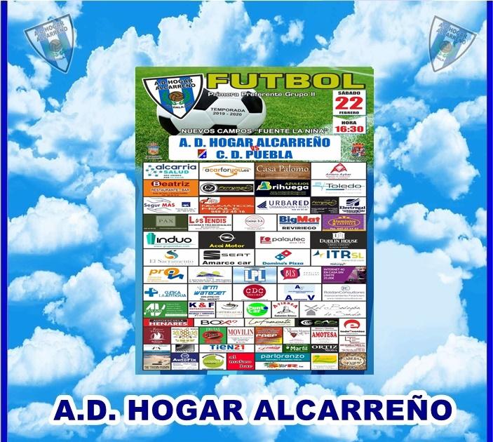 HOGAR ALCARREÑO-C.D. PUEBLA  SABADO DIA 22 A LAS 16:30 CAMPO FUENTE LA NIÑA . URBARED