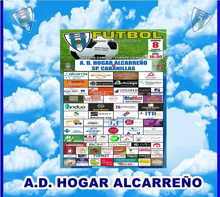 HOGAR ALCARREÑO-SP. CABANILLAS SABADO DIA 8 A LAS 16:30 CAMPO FUENTE LA NIÑA . CASA PALOMO.