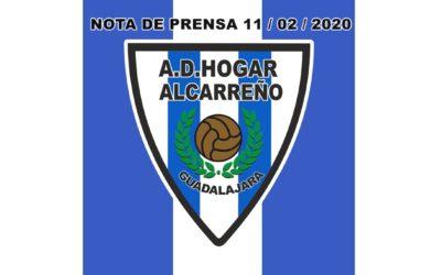 NOTA DE PRENSA 11 FEBRERO 2020 HOGAR ALCARREÑO