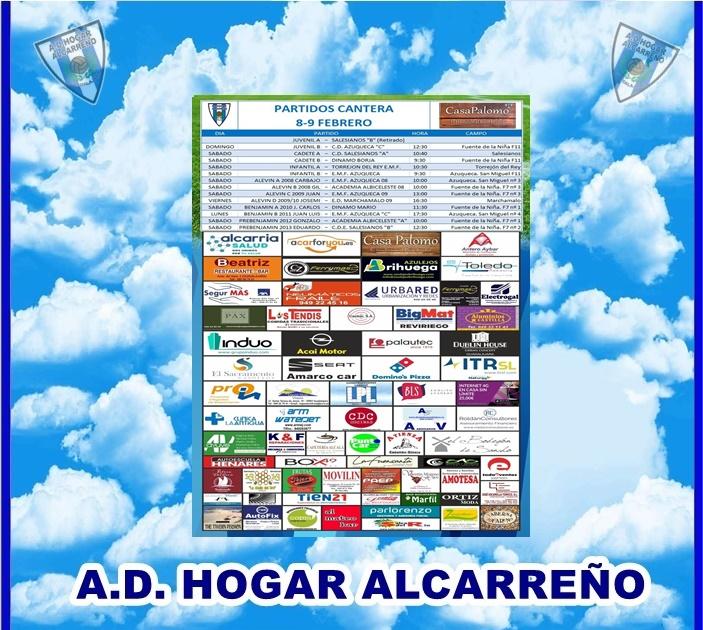 PARTIDOS CANTERA 8- 9 FEBRERO 2020 -HOGAR ALCARREÑO . CASA PALOMO