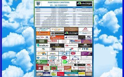 PARTIDOS CANTERA 15-16 FEBRERO 2020 -HOGAR ALCARREÑO .AZULEJOS BRIHUEGA.