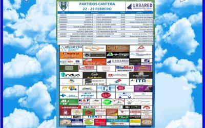 PARTIDOS CANTERA 22-23 FEBRERO 2020 -HOGAR ALCARREÑO .URBARED..