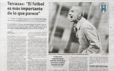 Carlos Terrazas entrevistado en Nueva Alcarria  «El fútbol es mas importante de lo que parece»