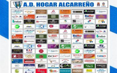 Agradecer a nuestros Patrocinadores y Colaboradores el apoyo a la A.D. Hogar Alcarreño S.A.D en la temporada 2019-2020.