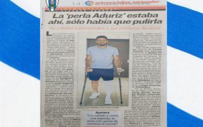Carlos Terrazas , Manager General del Hogar Alcarreño S.A.D. Protagonistas en el diario deportivo As, en un articulo sobre Aritz Aduriz Zubeldia