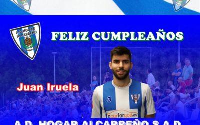 La directiva de la A.D. Hogar Alcarreño S.A.D. ,jugadores, socios y afición . Te desean Juan Iruela que pases un gran día de cumpleaños. un abrazo y Aupa Hogar !!