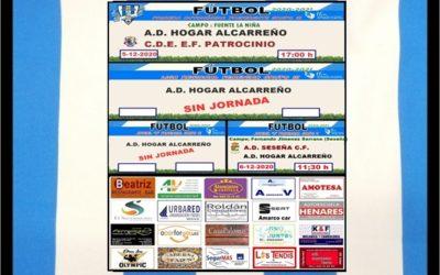 PEÑA HOGAR ALCARREÑO HORARIOS  JORNADA 6 DICIEMBRE 2020 AYUVE