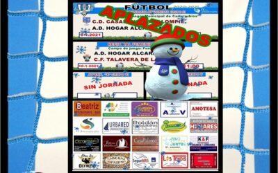 HORARIOS JORNADA 9-10 ENERO 2021 , PEÑA HOGAR ALCARREÑO. LOS TENDIS CATERING.