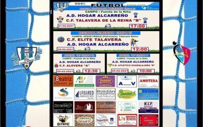 HORARIOS JORNADA 20-21 FEBRERO 2021 PEÑA HOGAR ALCARREÑO . A.V. ABOGADOS GUADALAJARA.