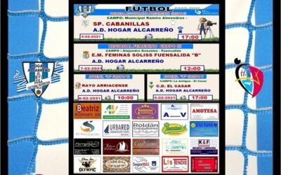HORARIOS JORNADA 6-7 FEBRERO 2021 , PEÑA HOGAR ALCARREÑO. FACTOTUM AUTOCONSUMO FOTOVOLTAICO