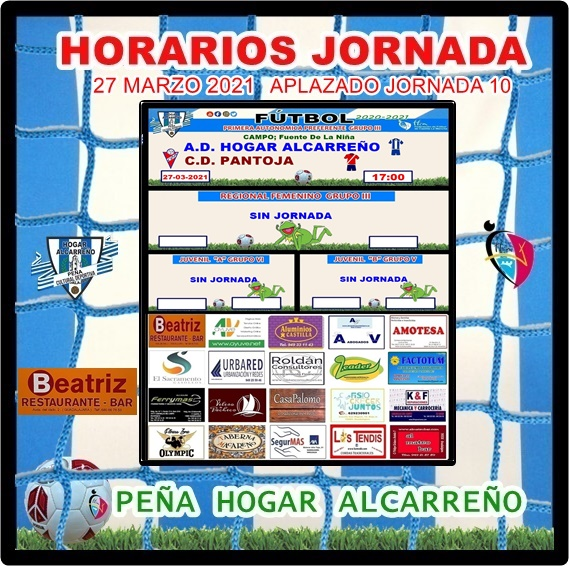 HOGAR ALCARREÑO- C.D. PANTOJA.  27 MARZO 2021 .PEÑA HOGAR ALCARREÑO. RESTAURANTE BEATRIZ.