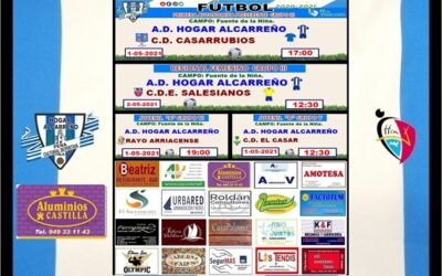 HORARIOS JORNADA HOGAR ALCARREÑO 1 – 2 MAYO 2021 . PEÑA HOGAR ALCARREÑO. ALUMINIOS CASTILLA.