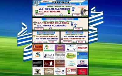 HORARIOS JORNADA HOGAR ALCARREÑO 17 -18 ABRIL 2021 .PEÑA HOGAR ALCARREÑO .FISIO CRECER JUNTOS.