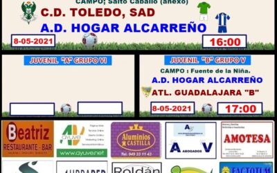 HORARIOS JORNADA HOGAR ALCARREÑO . 8 – 9 MAYO 2021 PEÑA  HOGAR ALCARREÑO . RESTAURANTE BEATRIZ.