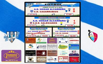 RESULTADOS JORNADA HOGAR ALCARREÑO 1-2 MAYO-2021 .PEÑA HOGAR ALCARREÑO . ALUMINIOS CASTILLA .