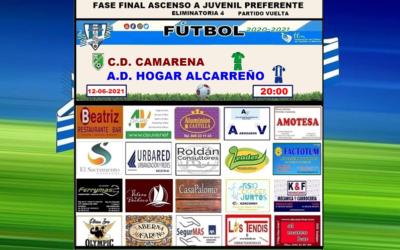 CAMARENA – HOGAR ALCARREÑO JUVENIL 12 JUNIO 2021 . FASE FINAL ASCENSO A JUVENIL PREFERENTE ELIMINATORIA 4 PARTIDO VUELTA. . PEÑA HOGAR ALCARREÑO . FACTOTUM SOLAR . ALUMINIOS CASTILLA