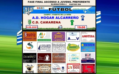 HOGAR ALCARREÑO JUVENIL – C.D. CAMARENA .5 JUNIO 2021 . FASE FINAL ASCENSO A JUVENIL PREFERENTE ELIMINATORIA 4 PARTIDO IDA. . PEÑA HOGAR ALCARREÑO . FACTOTUM SOLAR . ALUMINIOS CASTILLA
